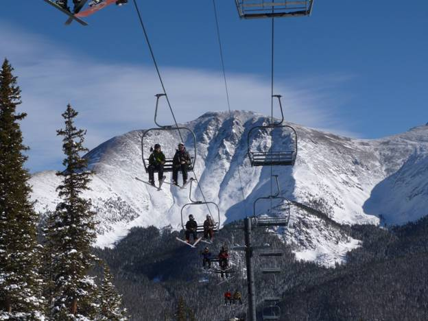 Riding Sunnyside Lift, Mary Jane, Winter Park, Colorado © 2012 Frosty Wooldridge