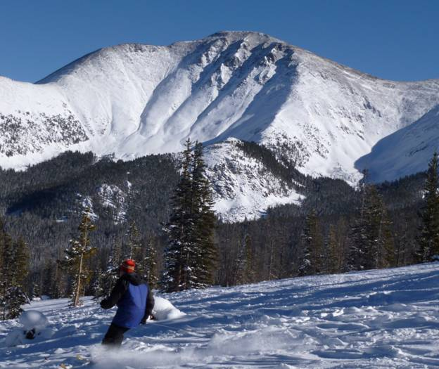 Skiing off Parsenn's Bowl,  Mary Jane, Winter Park, Colorado © 2012 Frosty Wooldridge