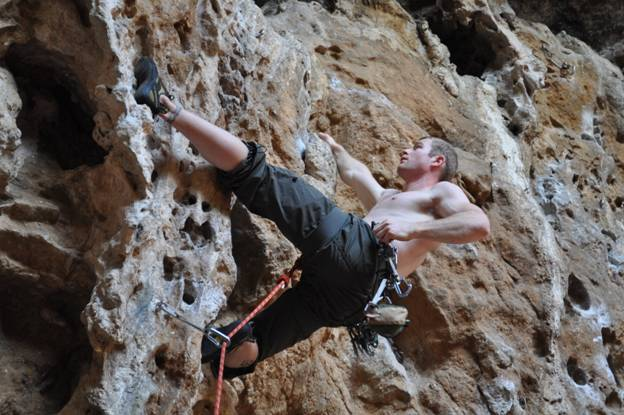 Rock climbing in Sperlonga, Italy © 2012 Frosty Wooldridge
